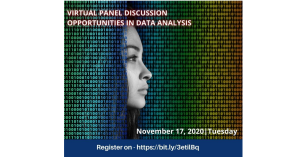 Virtual panel discussion targeting Women in Big Data – Opportunities in Data Analysis
