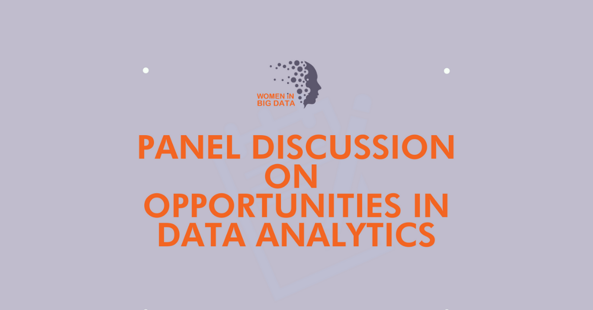 Panel Discussion – Opportunities in Data Analytics